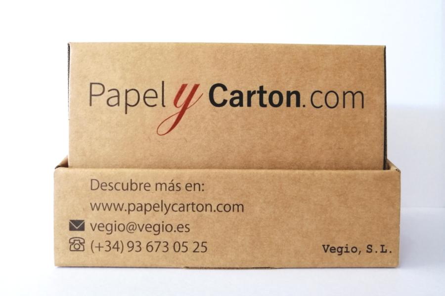 Caja de muestras de cartón