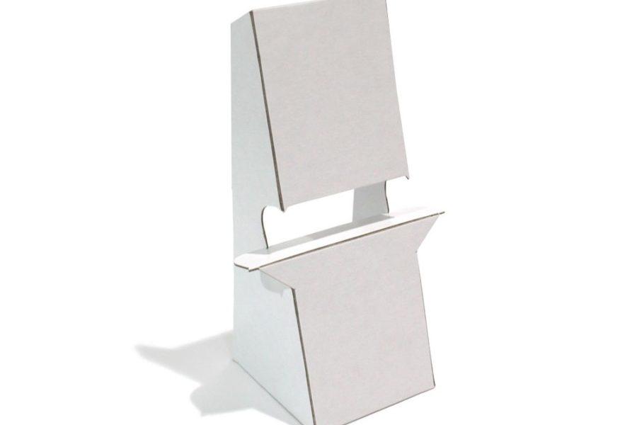 Peana de carton contracolado blanco